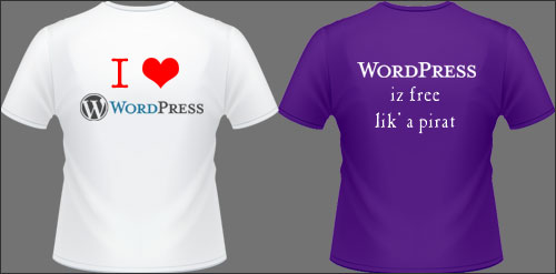 Tee-shirts WordPress