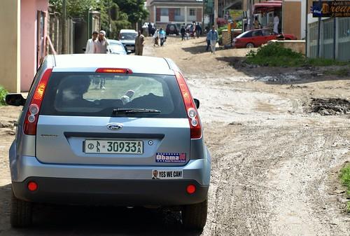 La campaña de Obama en Addis Abeba