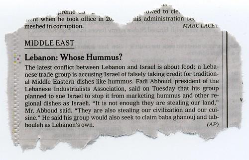 Whose Hummus?