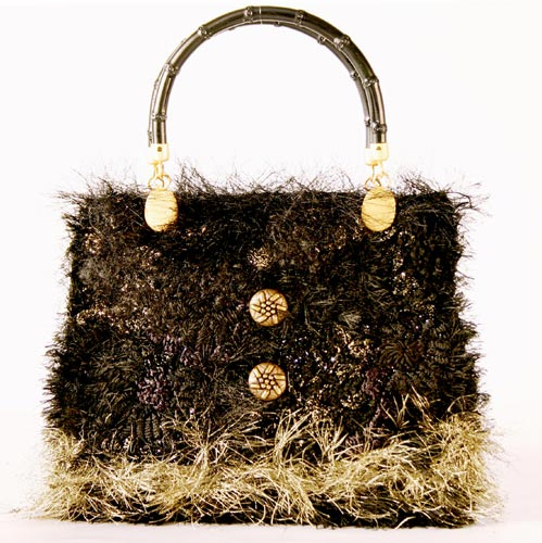black & gold evening purse
