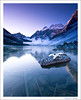 On Thin Ice (ajlester) Tags: morning blue autumn mountain lake snow mountains reflection nature glass sunrise rockies nationalpark rocks hiking lakes upper alberta 5d banff lakelouise 1740 1740f4l consolationlake landscapeexhibition