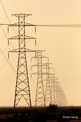 Power Towers Row (Dr. Hendi) Tags: road tower sepia day iran towers khuzestan mahshahr anoosh mahshar hendijan doctorhendii