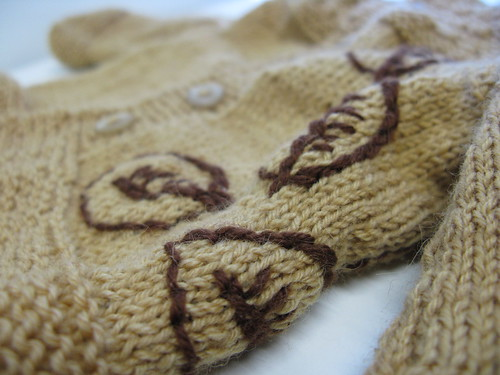 autumn baby sweater - side