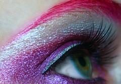 Day 310 of 365 (wisely-chosen) Tags: selfportrait macro eye me october colorful makeup 2008 picnik falseeyelashes drhauschkablackmascara manicpanichothotpink coastalscentsultrashimmer88eyeshadowpalette