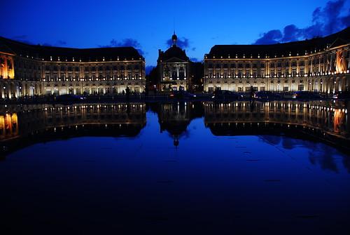 Place de la Bourse, la Nuit. Bordeaux.
