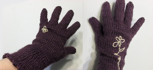 picot edged gloves