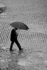 Dia de Chuva (Claudio Arriens) Tags: bw rain brasil lluvia rainyday chuva portoalegre pb riograndedosul guardachuva canoneos40d canonef80200mm