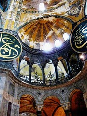 Haga Sophia , East Wall, Instanbul, Turkey (moonjazz) Tags: travel light building art church museum architecture turkey wonder big arch cathedral symbol interior prayer religion decoration landmark mosque holy arab mammoth dome column widows mighty byzantine vast justinian toursit 5photosaday hagasophia theunforgettablepictures colourartaward flickrlovers