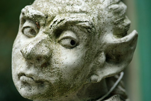 Stone Gargoyle Face - Statue