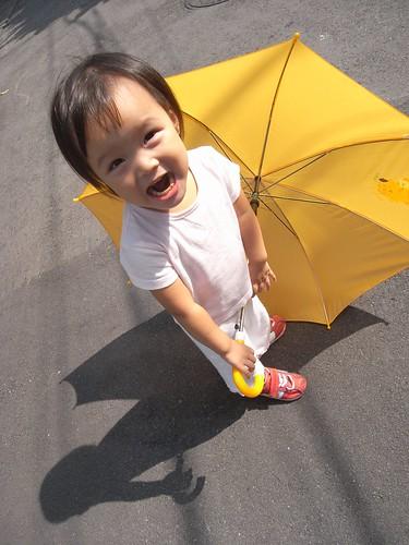你拍攝的 12玩雨傘。
