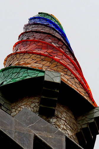 Gaudi Chimney Stack on Palau Guell by Baked Beans.