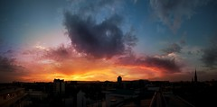 The view of sunset off the roof (h.andras_xms) Tags: city sunset sky cloud sun night 1ds horizont markiii handras