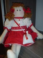Uma ruiva metida ... (www.imaginandocoisas.com) Tags: doll vermelho coração boneca ruiva laço poá sachê