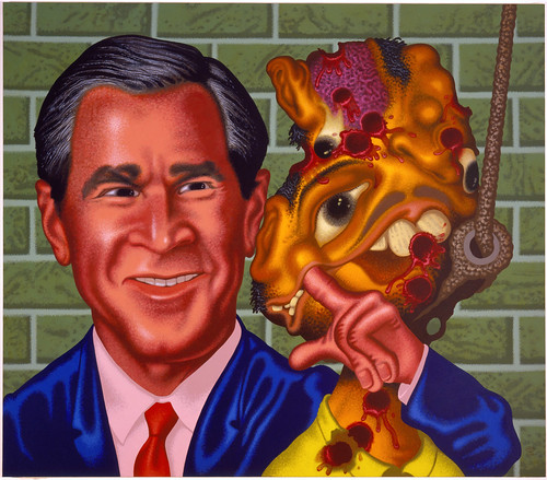 PETER SAUL - Bush at Abu Ghraib 2006.jpg