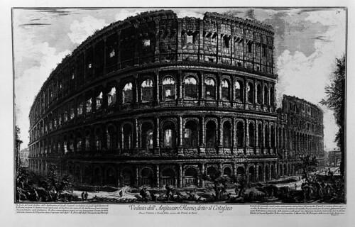 017-Vista del anfiteatro Flavio llamado el Coliseo