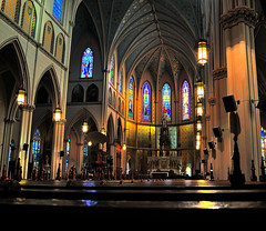 Inside St. Anne Detroit (Micha67) Tags: usa building church st anne michael nikon catholic michigan detroit micha schaefer d300 flickrclassique 2ndoldestintheus