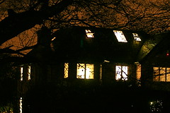 Creepy or welcoming? (sezohanim) Tags: england house night cheshire litup lightson utata:project=nocturnal2