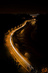Swish (or Swoosh) (martinturner) Tags: bridge light yellow downs long exposure suspension trails viewpoint clifton martinturner