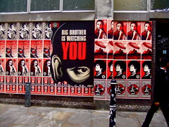 Shepard Fairey in London: Big Brother Is Watch...