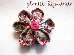 Broche Kanzashi 001 ( - ISA -  plexi10_bijouterie) Tags: flower broche brooch flor oriental bisuteria abalorios complementos kanzashi