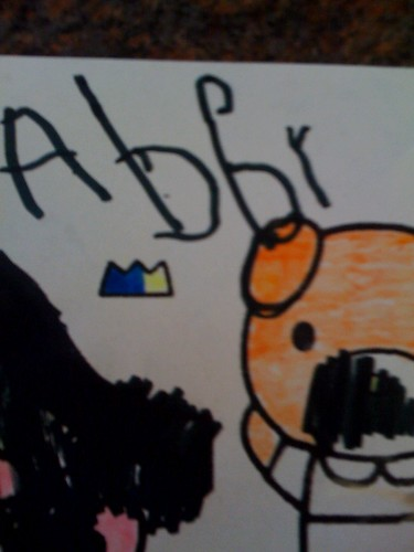 Abby can write her own name.