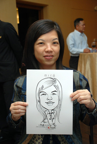 Caricature live sketching for Far East Organisation SPH Media Night The Miro 11