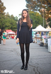 HiStyley l Melrose Trading Post  Street Style  #131 (HiStyley) Tags: california ca street city november portrait people girl fashion vintage la losangeles women dress style tights flats melrose hollywood dots chanel 2008 cardigan 08 streetfashion streetstyle leggins melrosetradingpost histyley