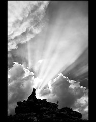 God's light! (mcazadi) Tags: light sky clouds bright beam blueribbonwinner blackwhitephotos