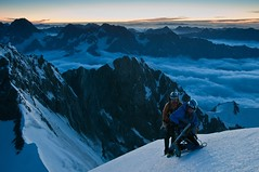 Preparing the final push on an extremely icy ridge (radson1) Tags: newzealand glacier climbing alpine mountaineering southernalps alpinism alpineclimbing radson ledenfeld