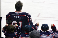 Hockey's Biggest Fans (thisisbrianfisher) Tags: blue columbus ice hockey children nhl fan kid child brian rick excited enjoy fisher nash jackets bluejackets brianfisher thisisbrianfisher