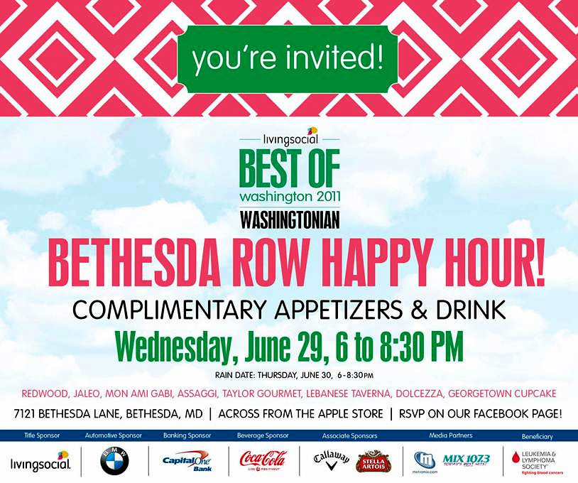Washingtonian Best of Happy Hour, corporate Event DJ, Washington DC Event