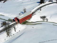 Red Covered Bridge in Winter near Wakefield, QC - Kite Aerial Photography, KAP (Rob Huntley - Kite Aerial Photography) Tags: road bridge winter red snow canada tree weather horizontal architecture landscape outdoors photography day photographie quebec aerialview nopeople qubec covered coveredbridge wakefield kap aerialphotography connection gatineaupark par kiteaerialphotography winterlandscape arienne cerfvolant covering winterscene traveldestinations aerienne kitephotography beautyinnature coldtemperature photographiearienne photographieaerienne cheminpine photographiearienneparcerfvolant photographieaerienneparcerfvolant photographarienne photographaerienne