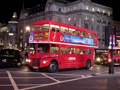 Who needs a flash at Piccadilly Circus? 2 (Sou'wester) Tags: london heritage vintage icon routemaster publictransport lrt lt parkroyal rm londontransport tfl aec prv rml route38 t10 classicbus finalyears rml2750 smk750f