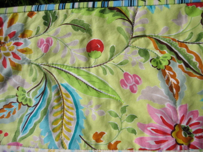 Quilt - close up of stitching