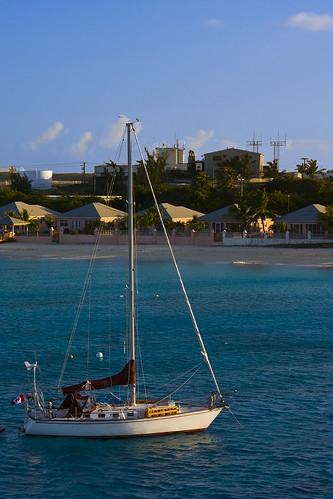 ocean beach water sailboat boat grandturk caribbean