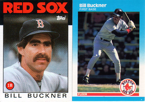 Bill Buckner - 86 Topps and 87 Fleer