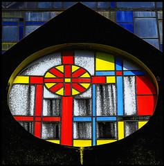 Full Color (jotemel) Tags: blue red black yellow cross christian syria soe homs witraz colorphotoaward jotemel