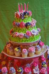 Cedi's Floral Fantasy 7th Birthday! (Yummy Piece of Cake) Tags: flowercupcakes birthdaycupcakes pinkcupcakes sugarflowers gardencupcakes