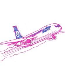 POLISRA: LOT airplane sketch by me