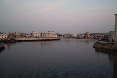 Hyogo canal in dusk