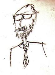 Dad (Bexlee) Tags: art pencil beard sketch dad drawing father tie sketchbook teacher doodle professor spectacles lecturer academic