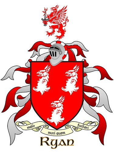 sexton family crest. Ryan family coat of arms.