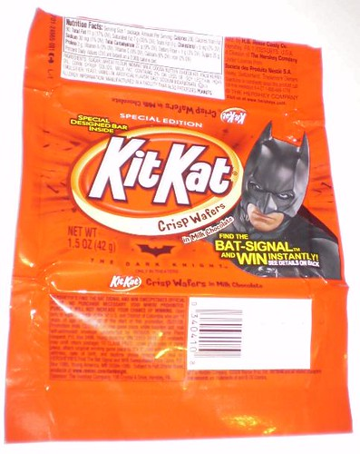 Batman Kit Kat promoting The Dark Knight movie
