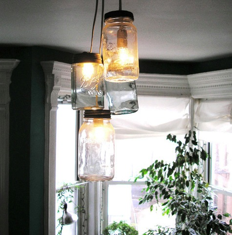 mason jar chandelier home stories a to z. Black Bedroom Furniture Sets. Home Design Ideas