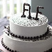 Black & White Wedding Cake