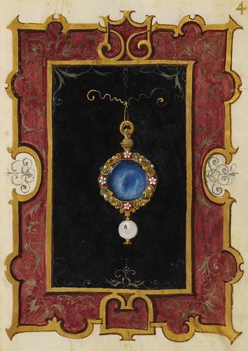 Medallon de Zafiro con colgante para el dia 40r