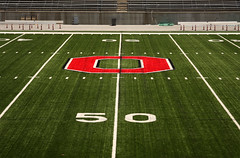 50 Yard Line (Sam Howzit) Tags: football stadium osu horseshoe theshoe ohiostadium buckeyes ohiostateuniversity blocko 50yardline