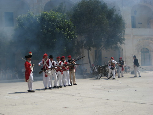 Reenactment of French occupation of Malta