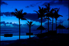 Mauritius (abhinavt) Tags: blue trees sea sky reflection clouds cross coconut palm mauritius blueblack blueandblack ilemauritius