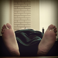 "Day 175/365 ""Siesta"" (Hunter Wilson) Tags: summer portrait feet june photoshop self vintage foot lomo nap sleep nolan tripod samsung retro wilson hunter 365 2008 timer wellstone breakaway 365days gorillapod hunterwilson"